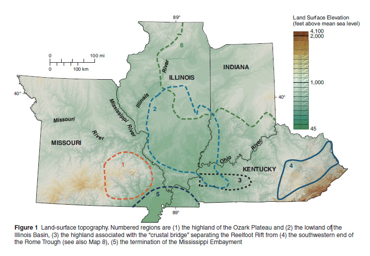 Geological And Geophysical Maps Of The Illinois Basin Ozark Dome Region
